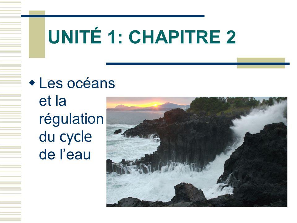 UNITÉ 1: CHAPITRE 2 Les océans et la régulation du cycle de leau