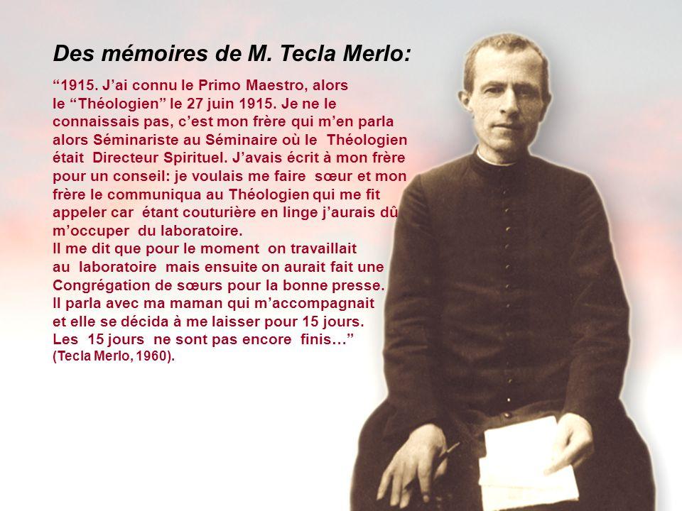 Des mémoires de M. Tecla Merlo: 1915.