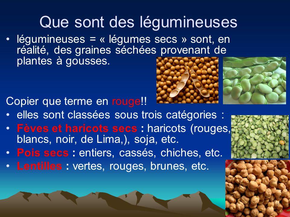 Que sont des légumineuses légumineuses = « légumes secs » sont, en réalité, des graines séchées provenant de plantes à gousses. Copier que terme en ro