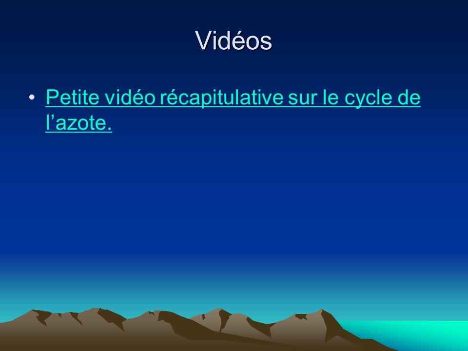 Vidéos Petite vidéo récapitulative sur le cycle de lazote.Petite vidéo récapitulative sur le cycle de lazote.