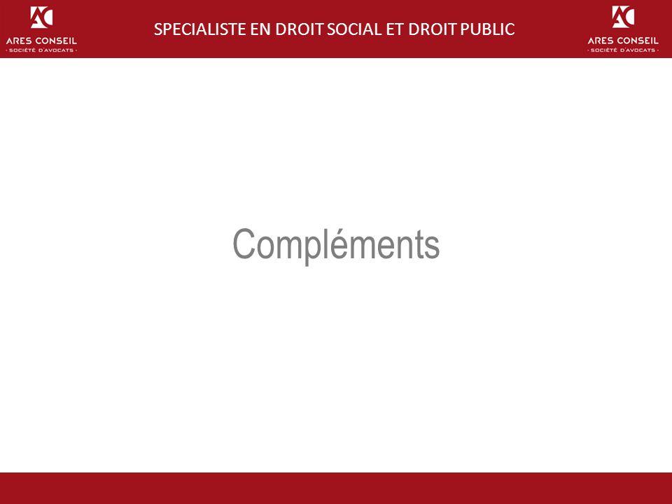 BP 2010-2013 Compléments SPECIALISTE EN DROIT SOCIAL ET DROIT PUBLIC