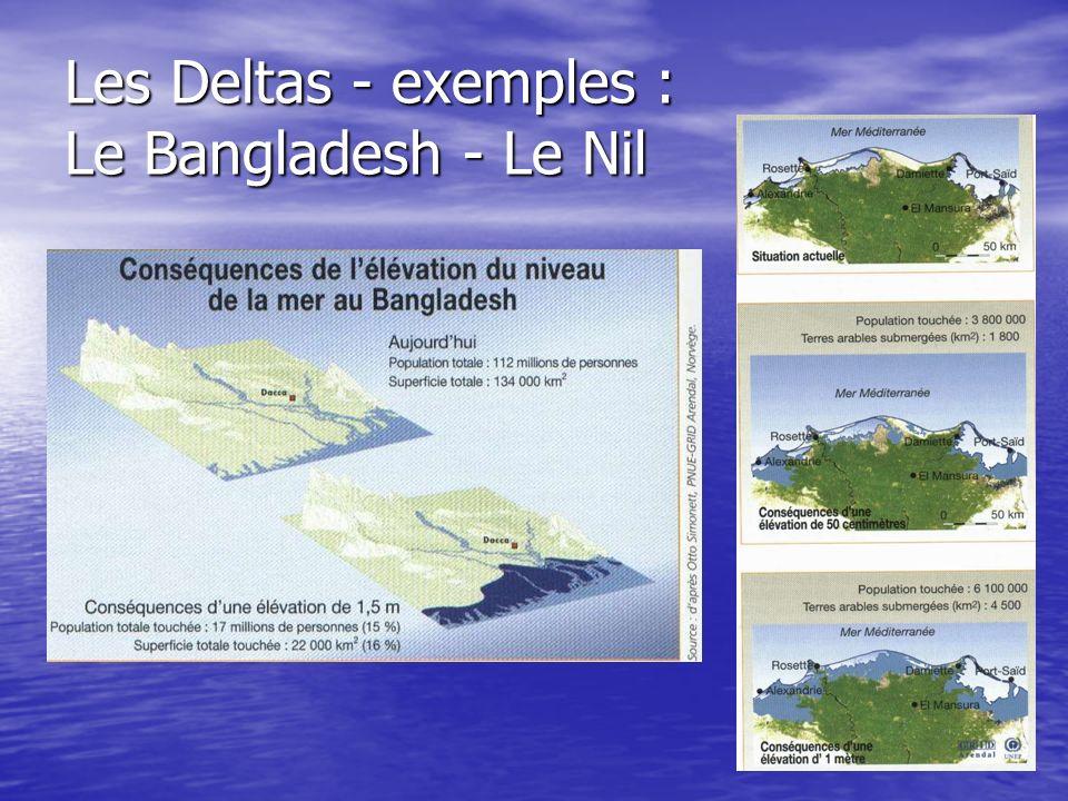 Les Deltas - exemples : Le Bangladesh - Le Nil