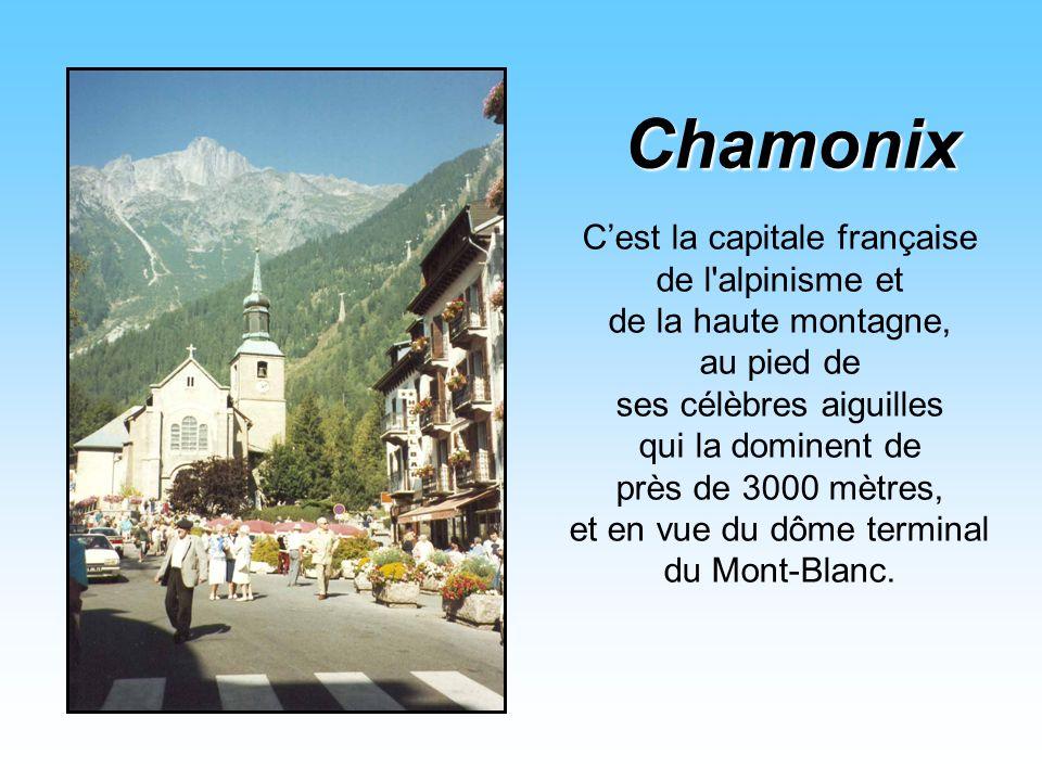 Le train à crémaillère de Montenvers relie Chamonix à la Mer de Glace en 20 minutes, et dépose les passagers à 1913 mètres, au-dessus de la Mer de Gla