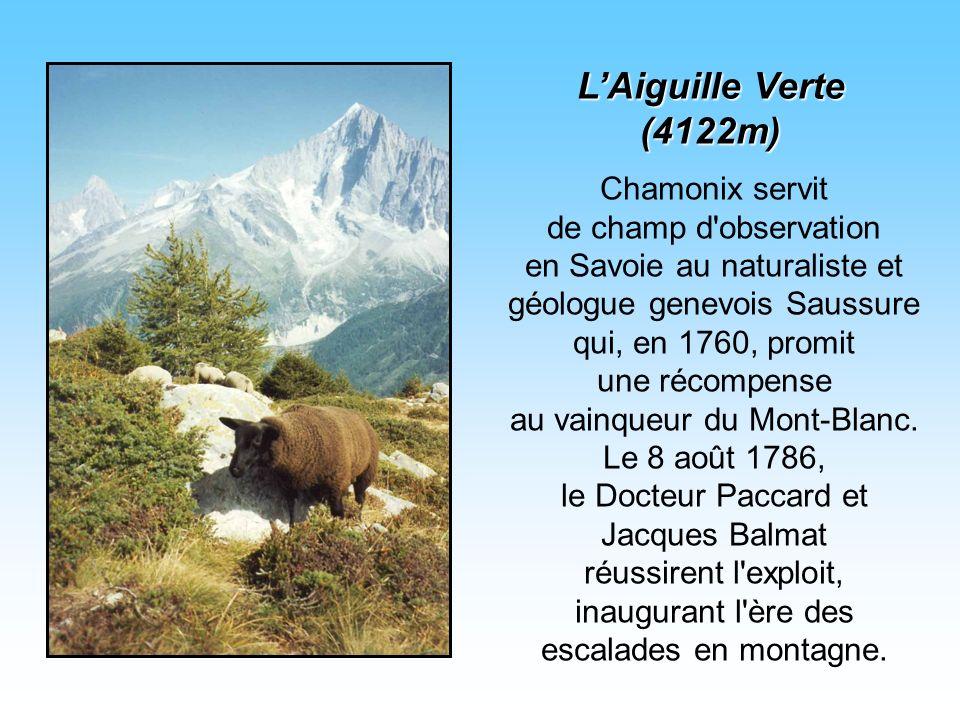 Chamonix servit de champ d observation en Savoie au naturaliste et géologue genevois Saussure qui, en 1760, promit une récompense au vainqueur du Mont-Blanc.