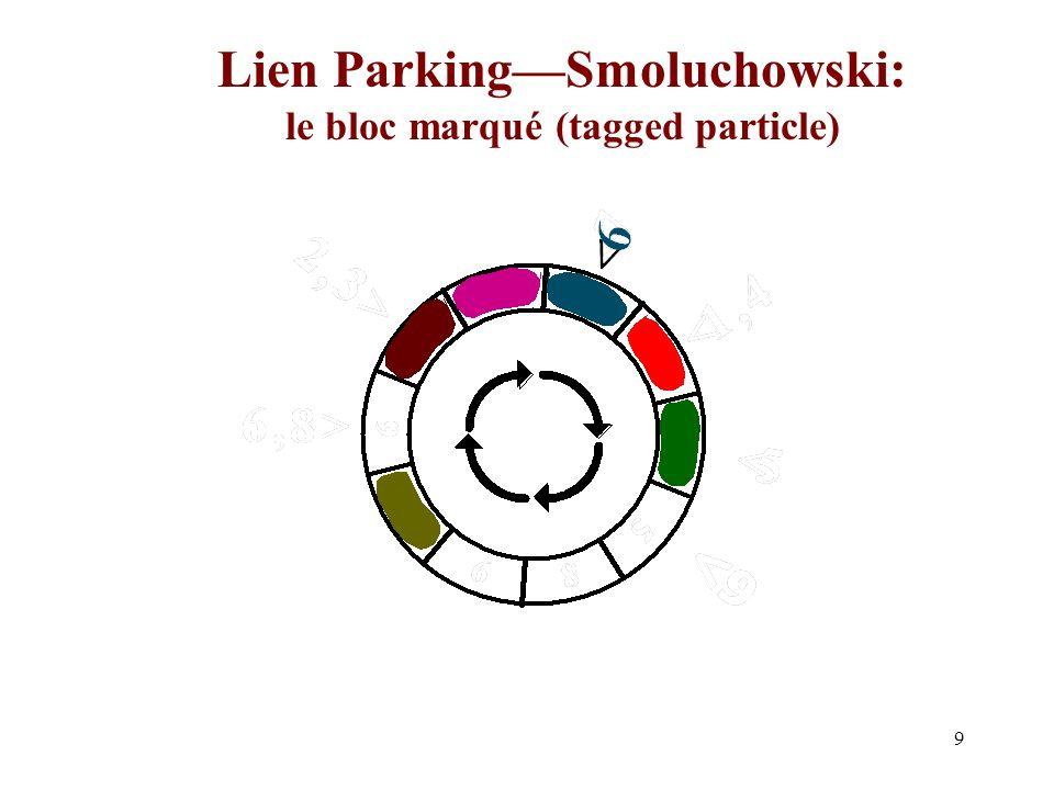 9 Lien ParkingSmoluchowski: le bloc marqué (tagged particle)