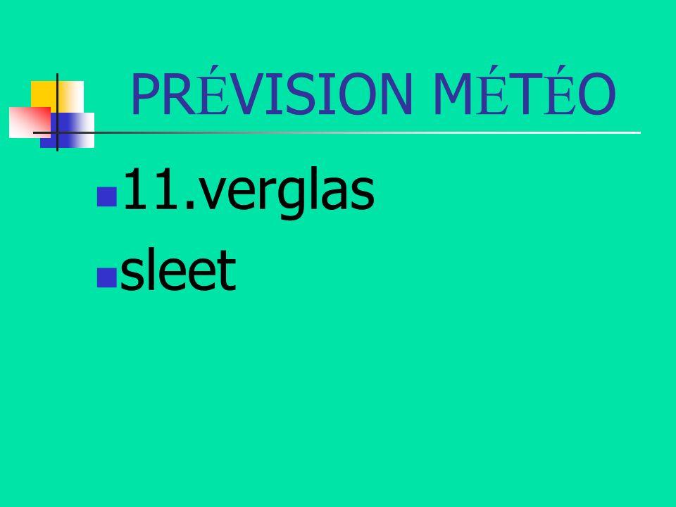 PR É VISION M É T É O 11.verglas sleet