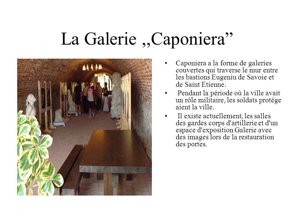 Caponiera a la forme de galeries couvertes qui traverse le mur entre les bastions Eugeniu de Savoie et de Saint Etienne.