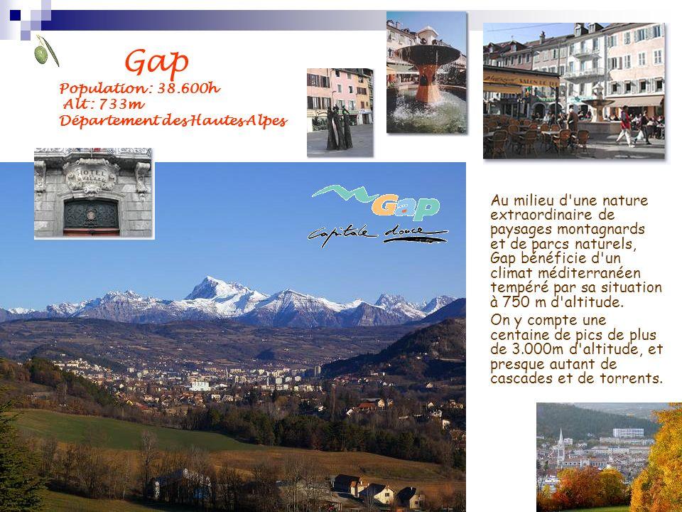 Au milieu d'une nature extraordinaire de paysages montagnards et de parcs naturels, Gap bénéficie d'un climat méditerranéen tempéré par sa situation à