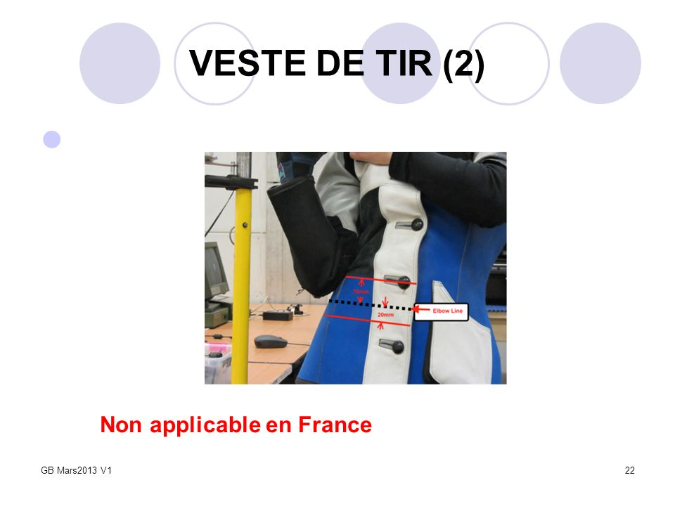 VESTE DE TIR (2) 22 Non applicable en France GB Mars2013 V1