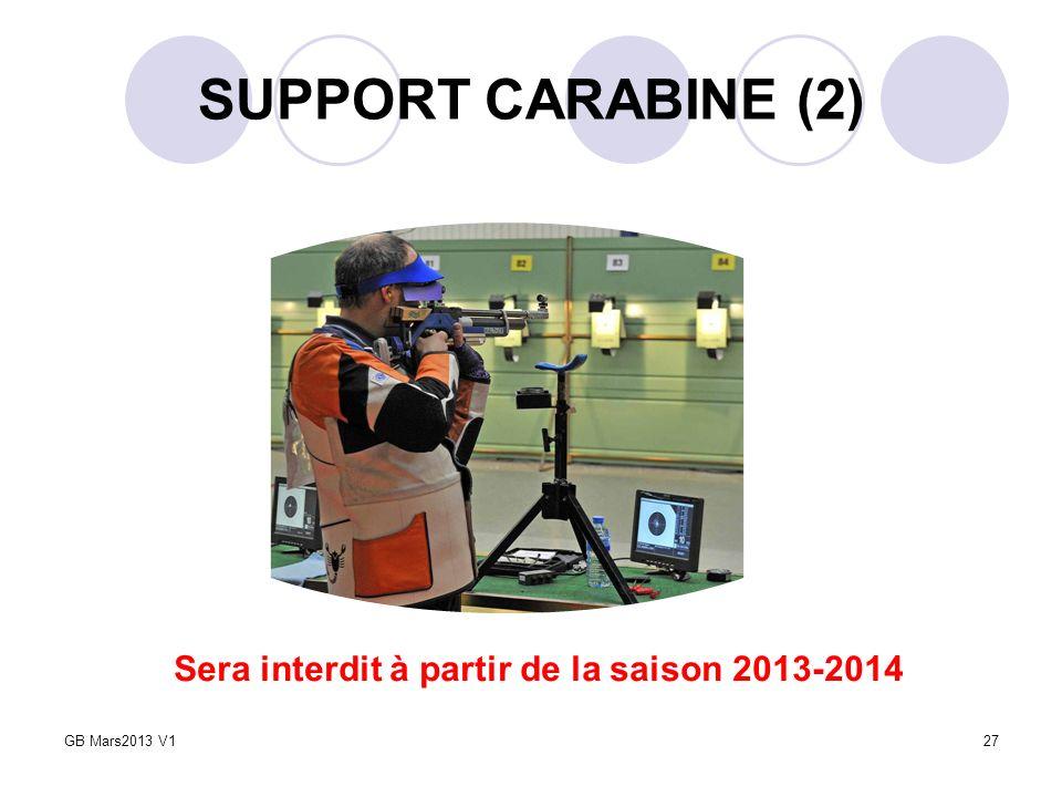 SUPPORT CARABINE (2) 27 Sera interdit à partir de la saison 2013-2014 GB Mars2013 V1