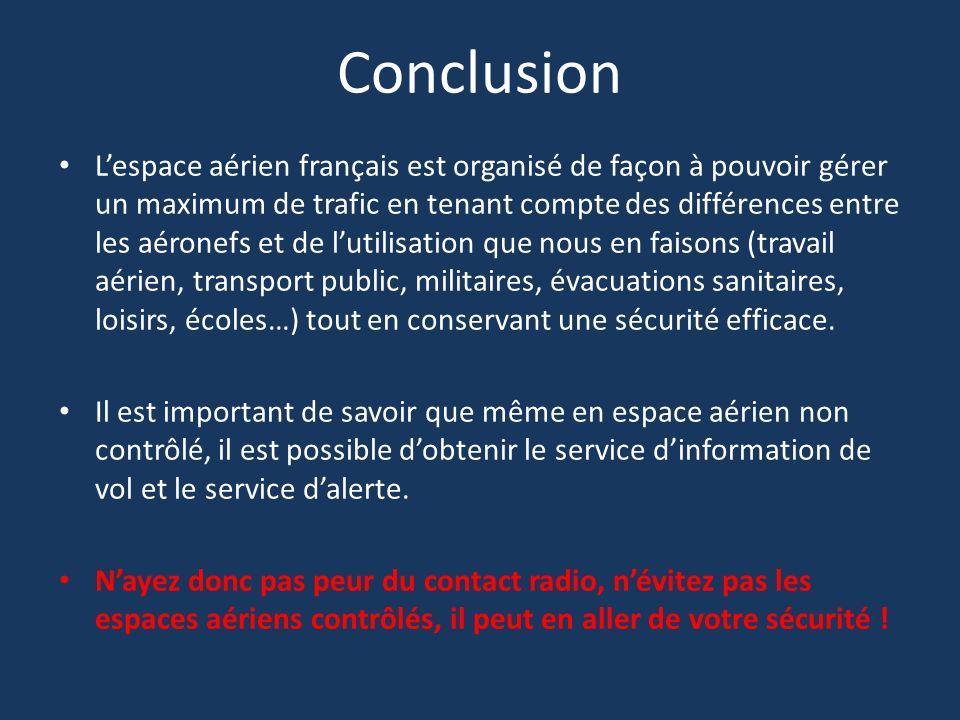 Lespace aérien français est organisé de façon à pouvoir gérer un maximum de trafic en tenant compte des différences entre les aéronefs et de lutilisat