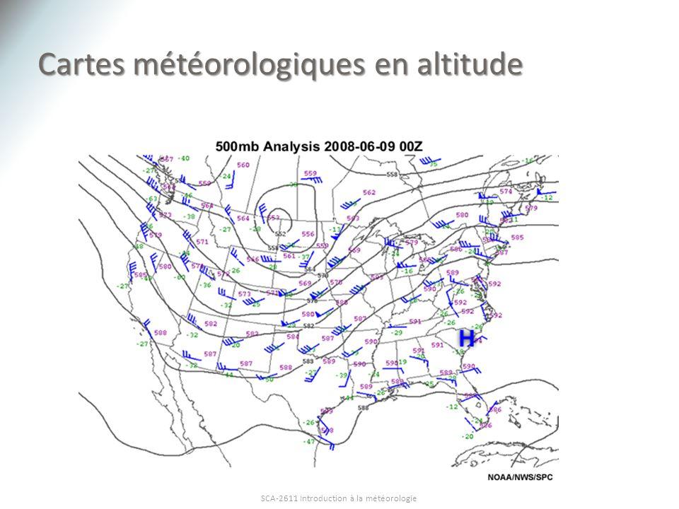 Cartes météorologiques en altitude SCA-2611 Introduction à la météorologie