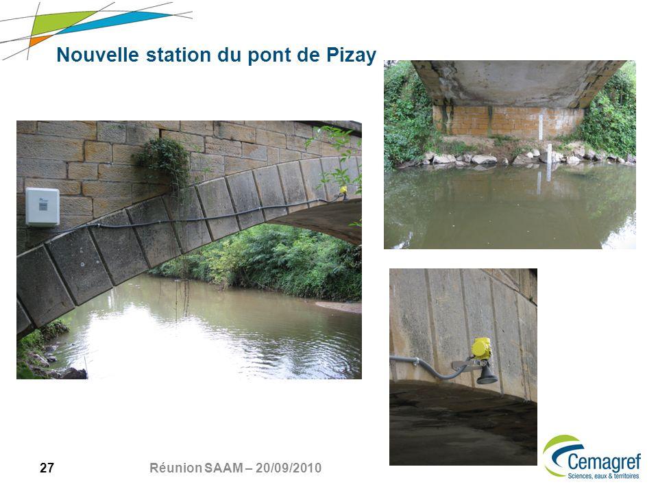 27 Réunion SAAM – 20/09/2010 Nouvelle station du pont de Pizay