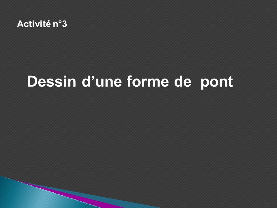 Activité n°3 Dessin dune forme de pont