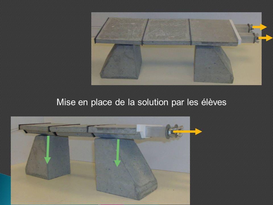 Hypothèse n°2: Franchir un obstacle de grande distance 1°) Assemblez les 7 voussoirs 2°) Posez le tablier assemblé sur les 2 piliers.