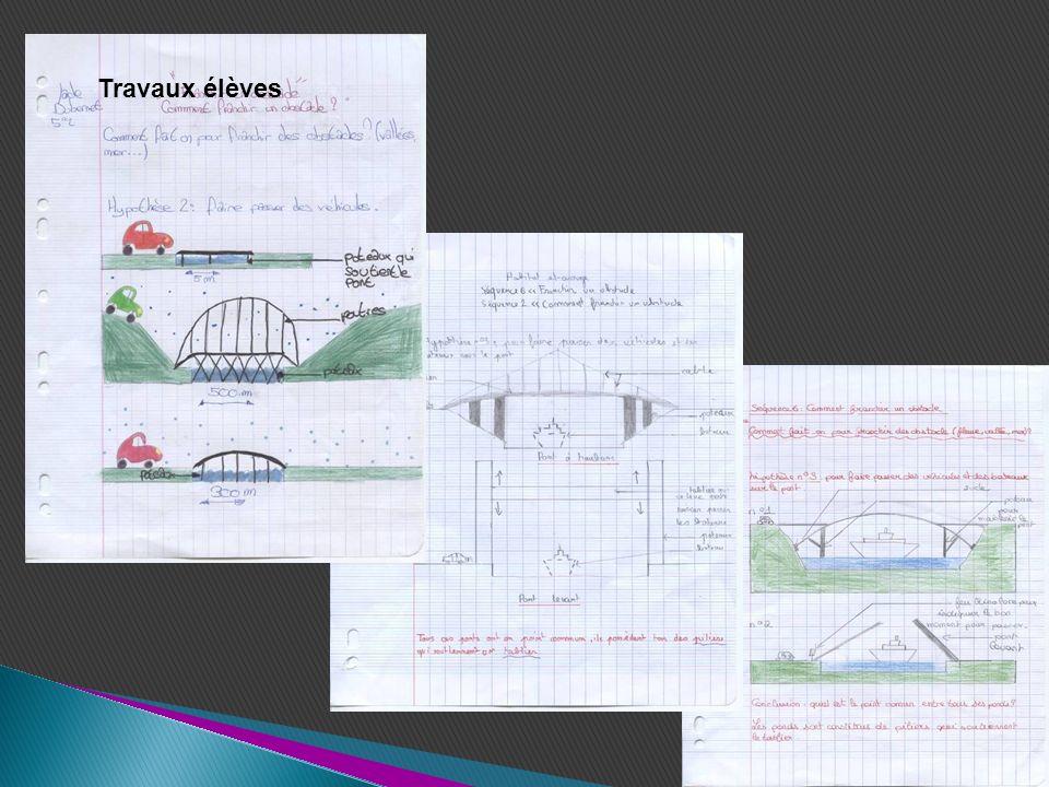 Tous ces ponts ont un point commun, ils possèdent tous des piliers et un tablier mais ils ont des formes différentes en fonction de lenvironnement (plaine, montagne,…) et de lespace à franchir Quels sont les points communs entre tous ces ponts.