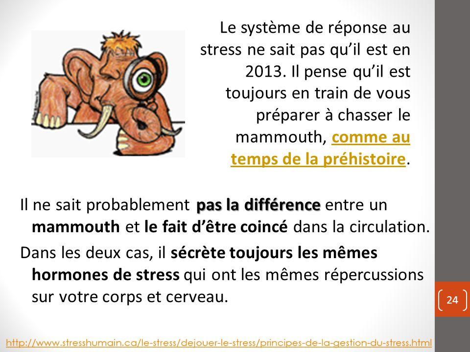 pas la différence Il ne sait probablement pas la différence entre un mammouth et le fait dêtre coincé dans la circulation.