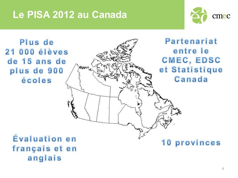 Le PISA 2012 au Canada 4
