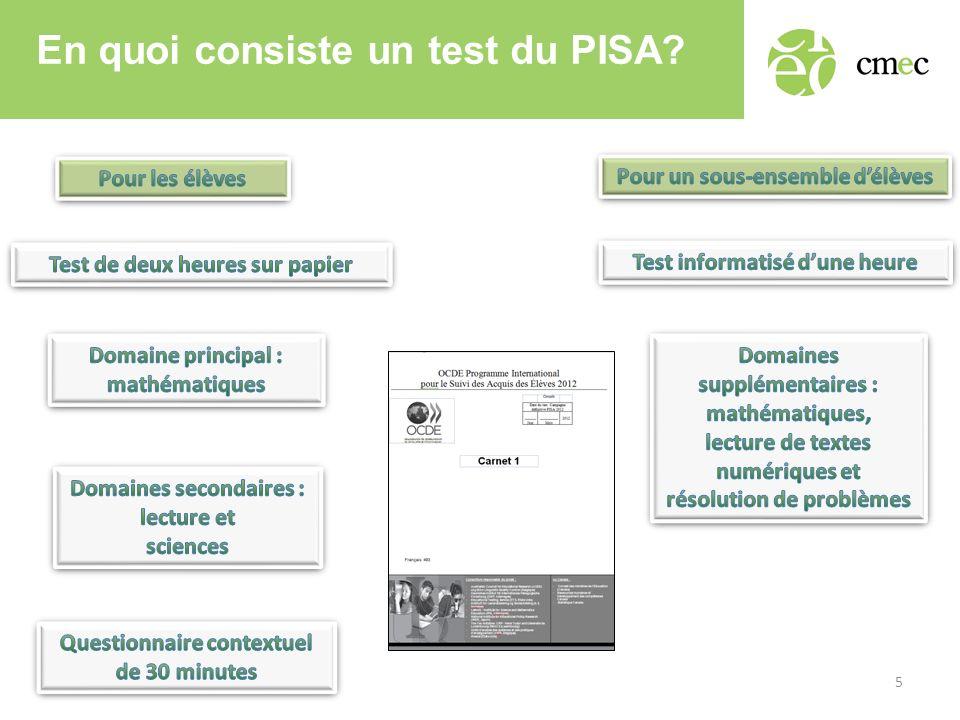 En quoi consiste un test du PISA? 5