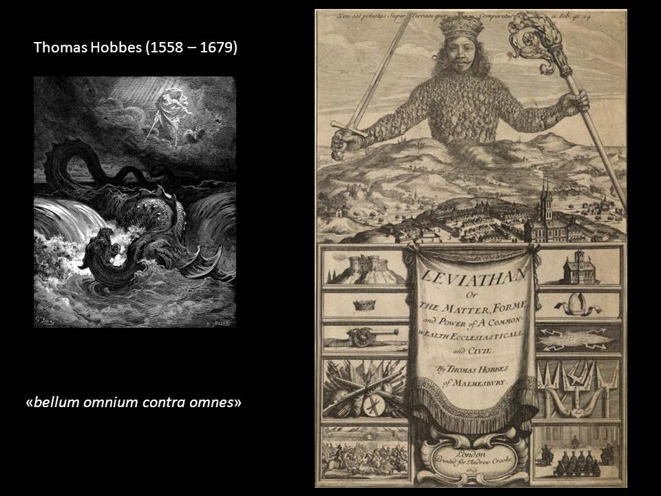 «bellum omnium contra omnes» Thomas Hobbes (1558 – 1679)