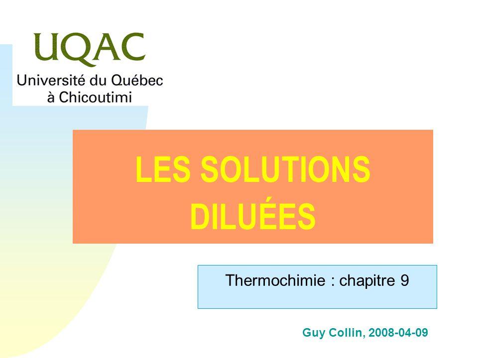 h Pression osmotique et solutions sanguines Cellule dans une solution...