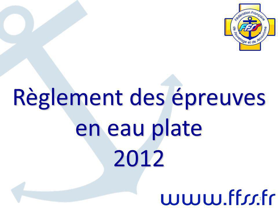 Règlement des épreuves en eau plate 2012 1