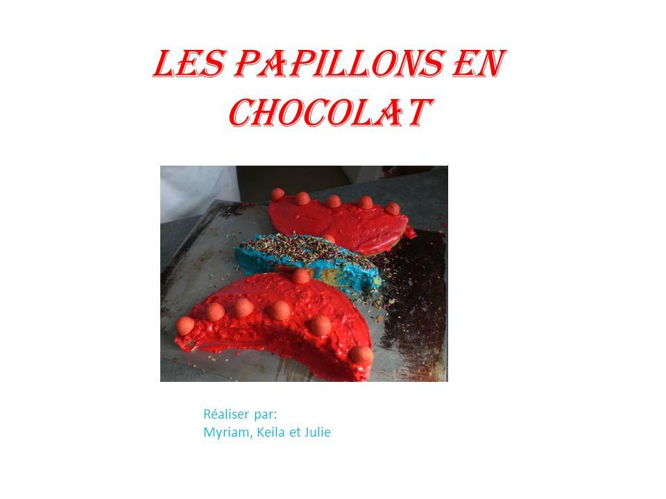Les papillons en chocolat Réaliser par: Myriam, Keila et Julie