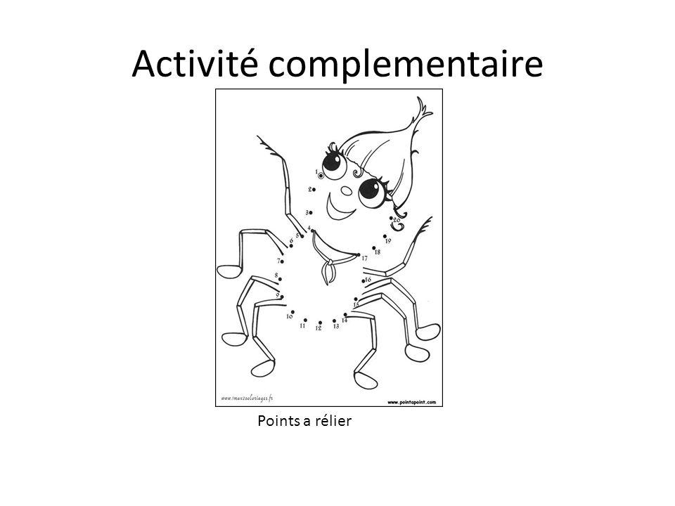 Activité complementaire Points a rélier
