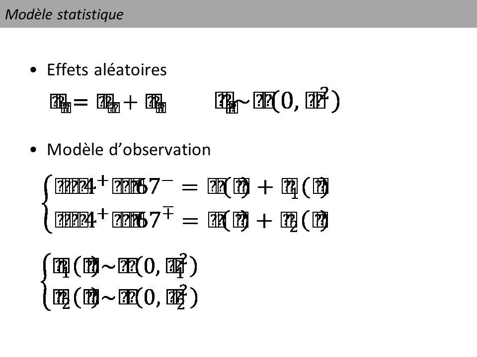 Modèle statistique Effets aléatoires Modèle dobservation