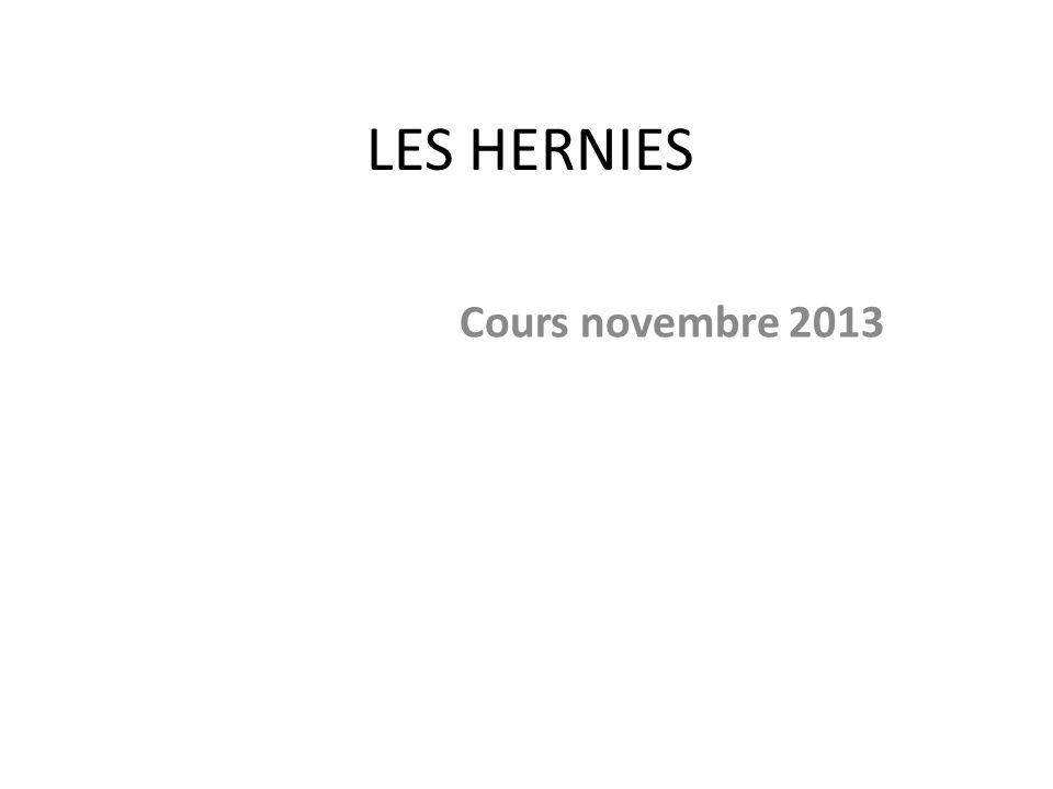 LES HERNIES Cours novembre 2013