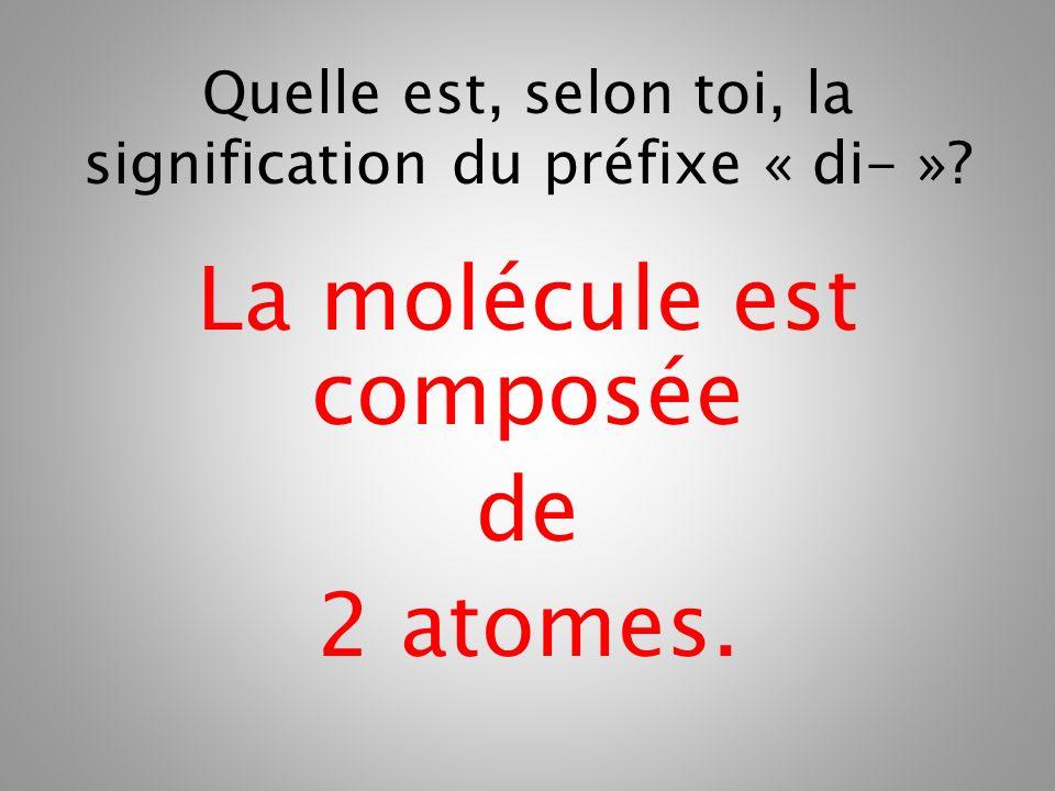 La molécule est composée de 2 atomes.