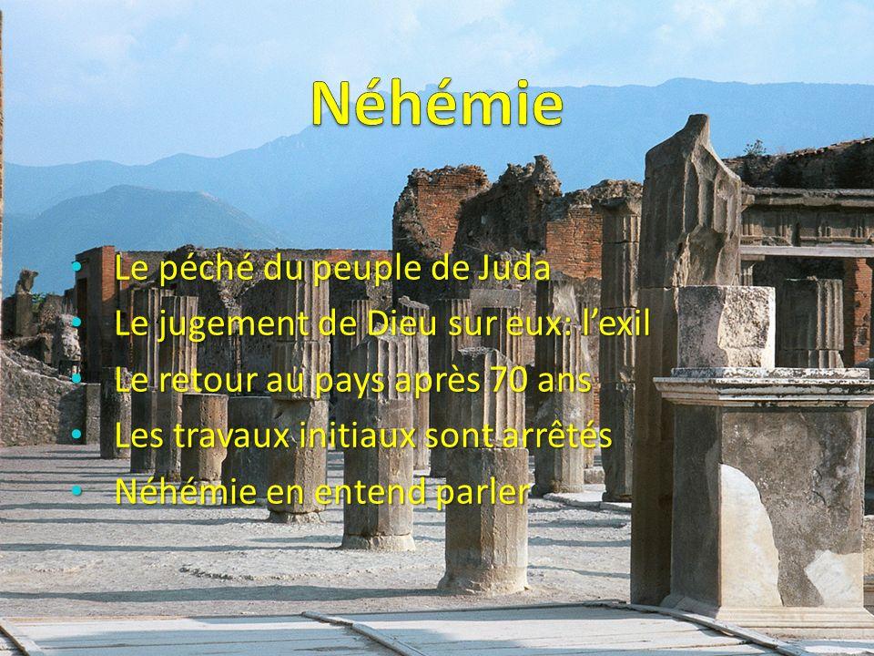 Le péché du peuple de Juda Le péché du peuple de Juda Le jugement de Dieu sur eux: lexil Le jugement de Dieu sur eux: lexil Le retour au pays après 70