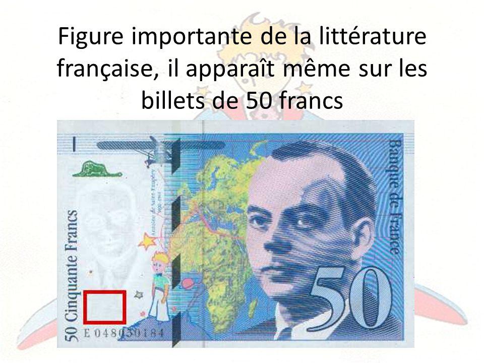 Figure importante de la littérature française, il apparaît même sur les billets de 50 francs