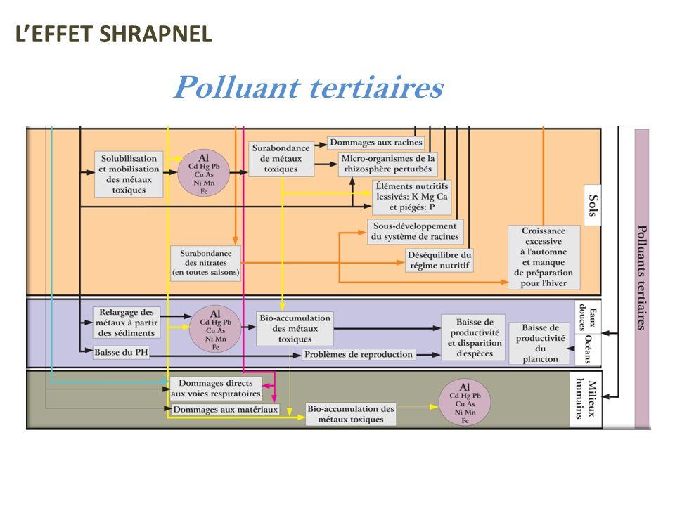 Polluant tertiaires LEFFET SHRAPNEL