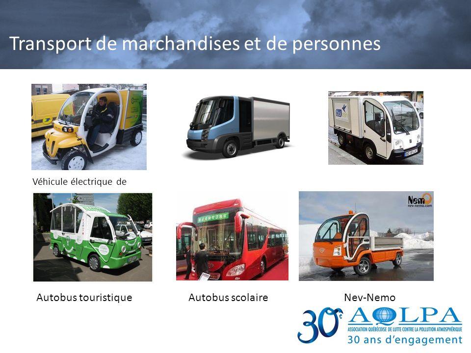 Transport de marchandises et de personnes Véhicule électrique de livraison Autobus touristiqueAutobus scolaireNev-Nemo