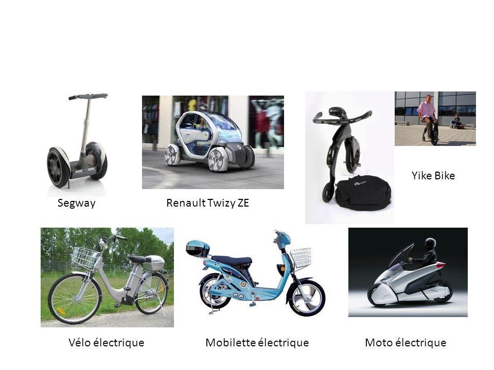 Yike Bike Segway Vélo électriqueMobilette électrique Mobilité individuelle électrique de petite dimension Renault Twizy ZE Moto électrique