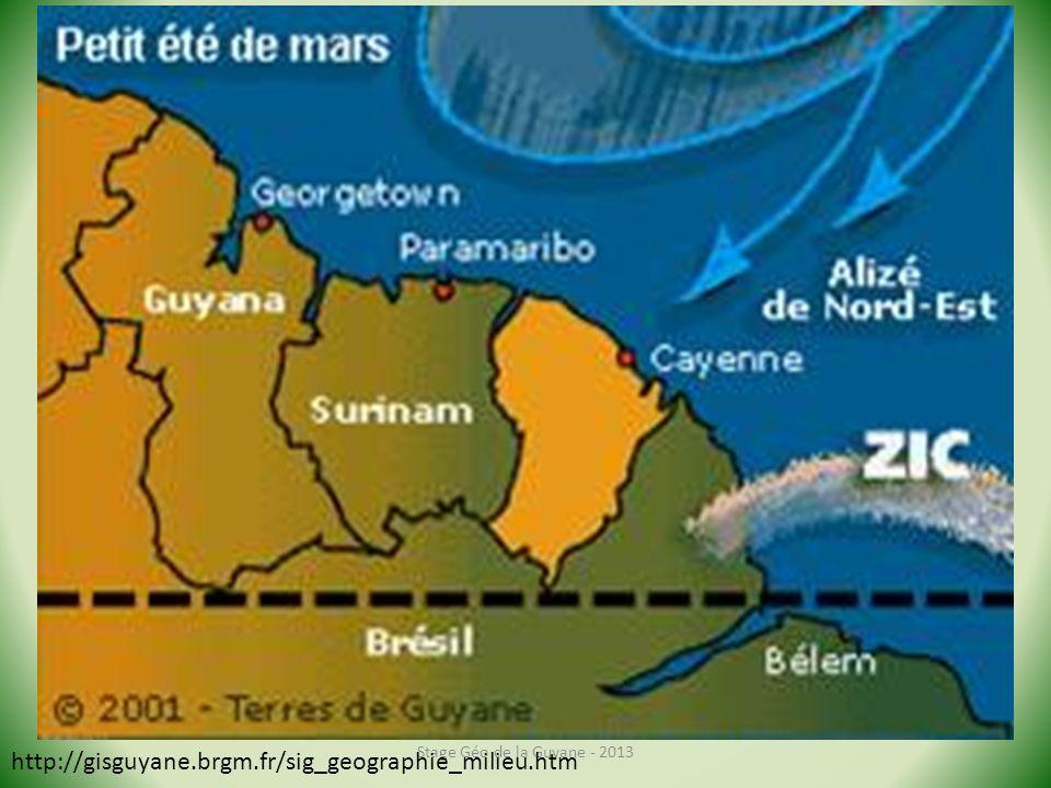 Stage Géo de la Guyane - 2013 http://gisguyane.brgm.fr/sig_geographie_milieu.htm