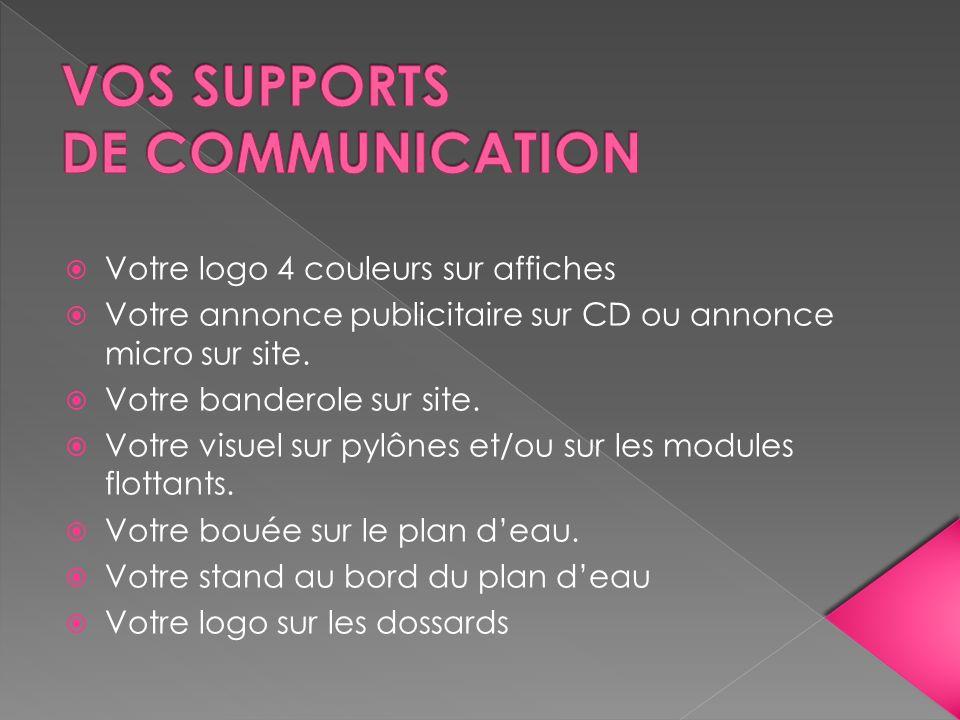Votre logo 4 couleurs sur affiches Votre annonce publicitaire sur CD ou annonce micro sur site. Votre banderole sur site. Votre visuel sur pylônes et/
