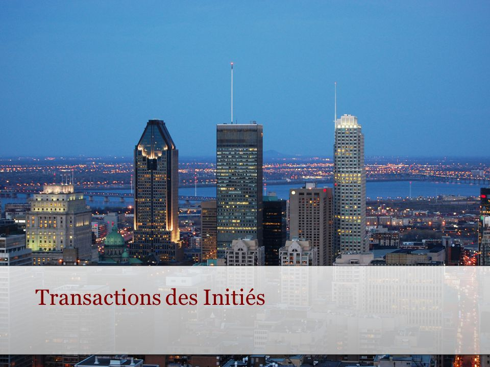 Transactions des Initiés