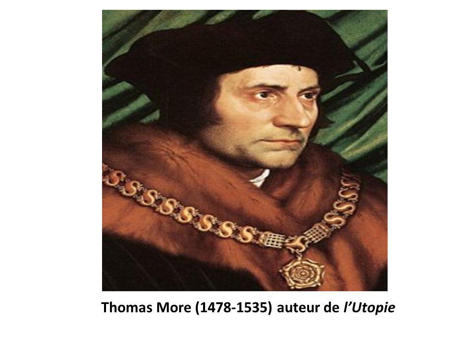 Thomas More (1478-1535) auteur de lUtopie