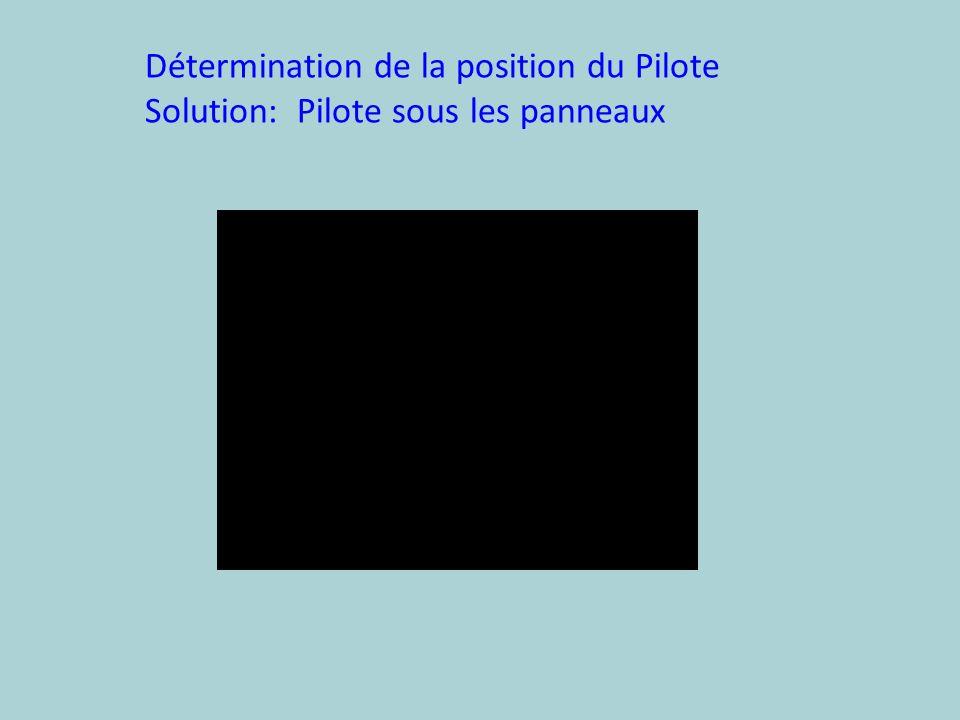 Détermination de la position du Pilote Solution: Pilote sous les panneaux