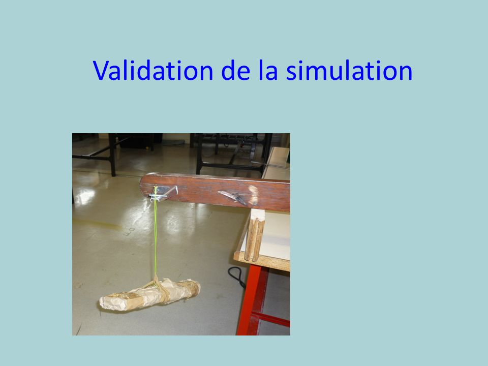 Validation de la simulation