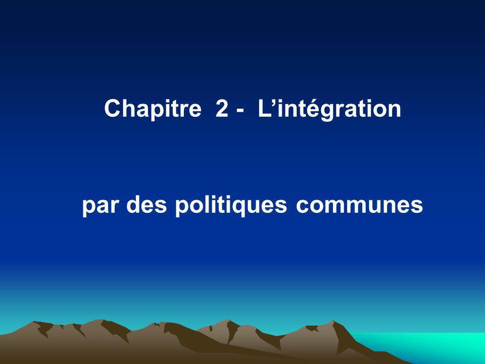 Chapitre 2 - Lintégration par des politiques communes