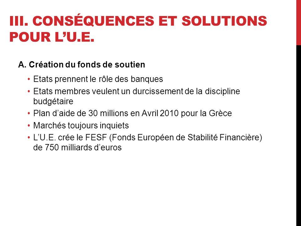 III. CONSÉQUENCES ET SOLUTIONS POUR LU.E. A.
