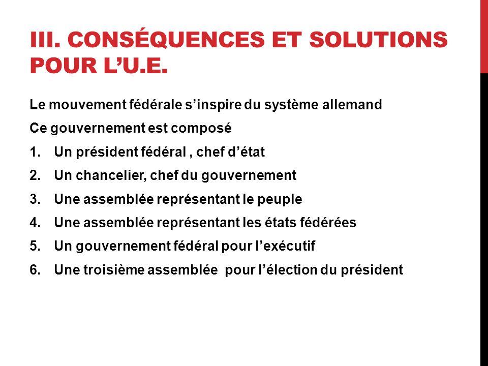 III. CONSÉQUENCES ET SOLUTIONS POUR LU.E.