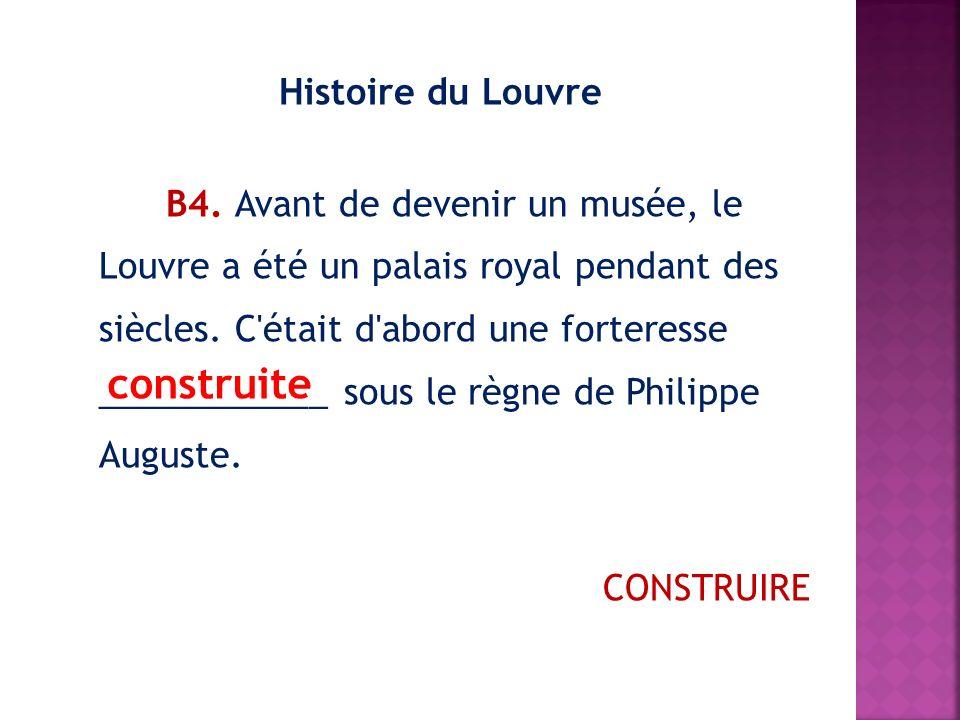 Histoire du Louvre В4.