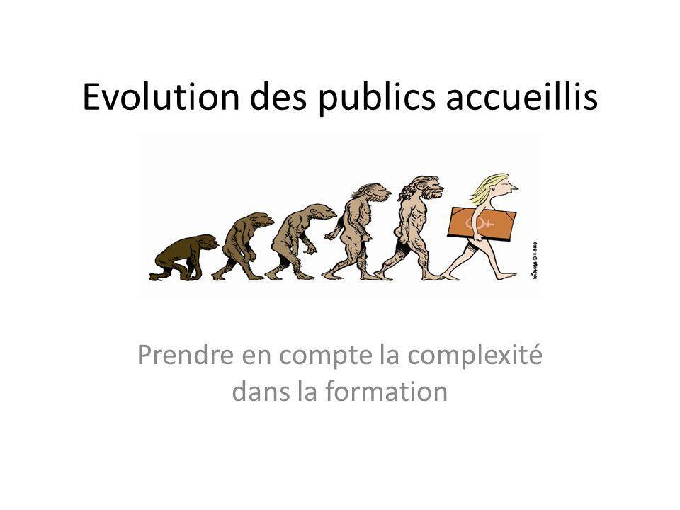 Evolution des publics accueillis Prendre en compte la complexité dans la formation