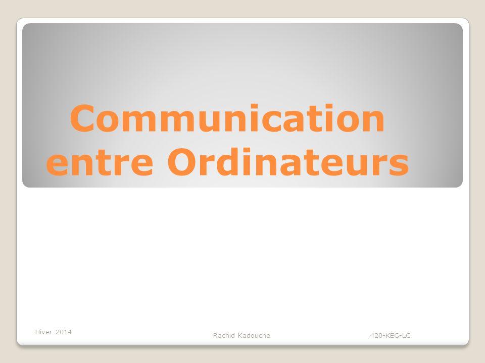 Communication entre Ordinateurs Rachid Kadouche 420-KEG-LG Hiver 2014