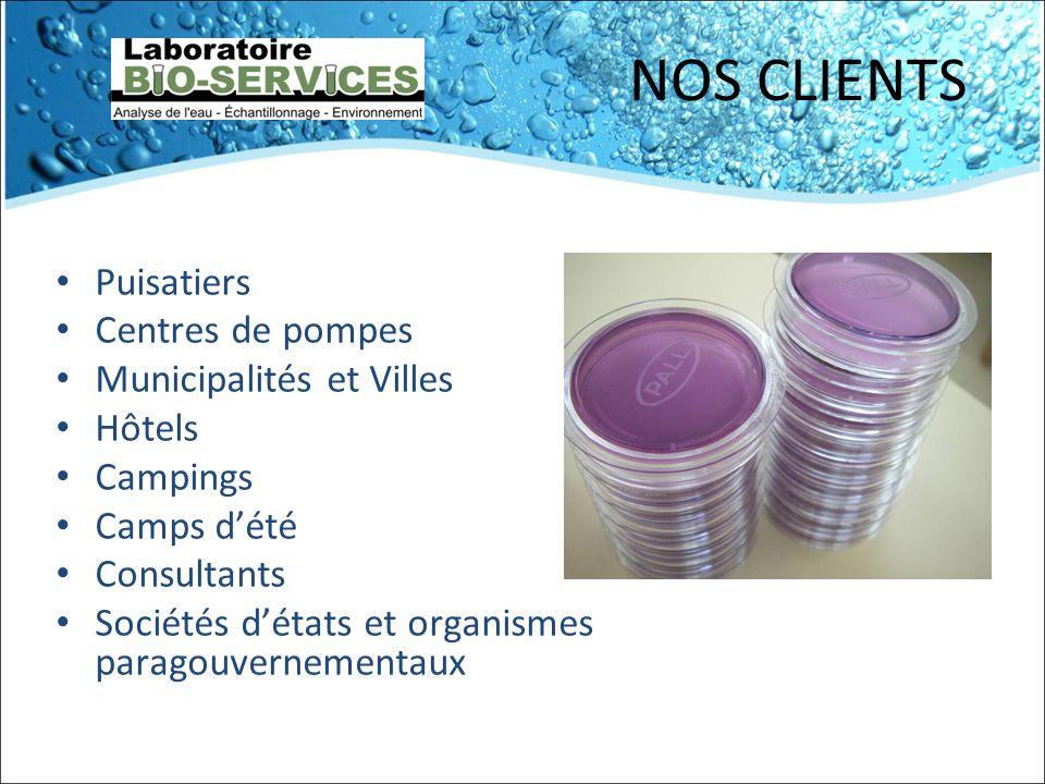 VÉRIFICATIONS PRÉLIMINAIRES Les installations de traitement deau potable peuvent aussi être contaminées.