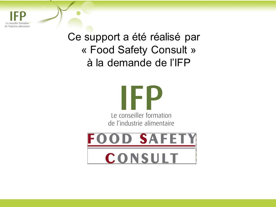 Ce support a été réalisé par « Food Safety Consult » à la demande de lIFP